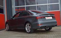FRIEDRICH MOTORSPORT 76mm Duplex Sportendschalldämpfer Audi A3 8V Limousine Quattro ab Bj. 05/2016 2.0l TFSI 140kW - Endrohrvariante frei wählbar