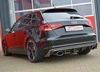 FRIEDRICH MOTORSPORT 63,5mm Komplettanlage Gruppe A Audi A3 8V Sportback Frontantrieb ab Bj. 05/2016 1.0l TFSI 85kW - Endrohrvariante frei wählbar