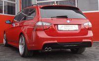 FRIEDRICH MOTORSPORT 70mm Sportauspuff BMW 3er E91 Bj. 2005-2012 Touring - Endrohrvariante frei wählbar