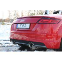 FOX Duplex Sportauspuff Audi TT FV3 Frontantrieb - 1x100 Typ 25 rechts/links
