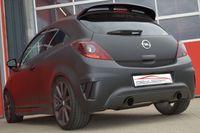 FRIEDRICH MOTORSPORT Duplex Sportauspuff 70mm Opel Corsa E OPC ab Bj. 2015 - 1.6l Turbo 152kW - Endrohrvariante frei wählbar Bild 4