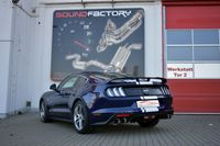 FRIEDRICH MOTORSPORT 76mm Duplex Sportauspuff Ford Mustang 6 Coupe & Cabrio ab Bj. 06/2017  5.0l V8 331kW - Endrohrvariante frei wählbar