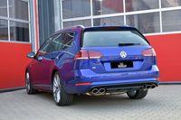 STREETBEAST 76mm Duplex Komplettanlage  MIT KLAPPENSTEUERUNG  VW Golf 7 Variant ab Bj. 02/2017- Allrad  R 2.0l TSI 228kW ohne Ottopartikelfilter  - Endrohrvariante frei wählbar