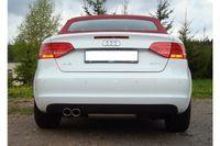 FOX 70mm Rennsportanlage Audi A3 8P Cabrio 1.4l TFSI 92kW - 2x76 Typ 17 Bild 2