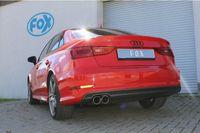 FOX 70mm Rennsportanlage Audi A3 8V Limousine 1.4l TFSI 90/92/103/110kW - 2x80 Typ 16