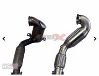 """Bull-X 76mm 3"""" Zoll Downpipe mit 2xHJS Sport-Kat mit EWG Zulassung (Euro 6 Modelle) Skoda Octavia 3 RS 180kW Bild 3"""