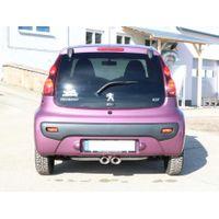 FOX Sportauspuff  Peugeot 107  - 2x86x54 Typ 32 mittig Bild 3