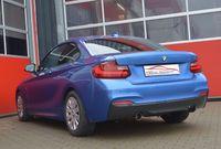 FRIEDRICH MOTORSPORT  76mm Duplex Sportauspuff  BMW 2er F22/F23 ab Bj. 11/2014 Coupe & Cabrio  220d/220dx 140kW  - Endrohrvariante frei wählbar Bild 2