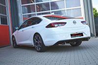 FRIEDRICH MOTORSPORT  76mm Duplex Sportauspuff  Opel Insignia Grand Sport Frontantrieb Bj. 06/2017-07/2018  1.5l Turbo 121kW ohne Ottopartikelfilter/ohne serienmäßigen Ausschnitt im Heckdiffusor  - Endrohrvariante frei wählbar