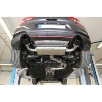 FOX  76mm Duplex Sportauspuff  Hyundai i30N Performance mit OPF - 129x106 Typ 44 rechts/links schwarz glänzend emailliert  2.0l 202kW