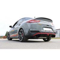 FOX  76mm Duplex Sportauspuff  Hyundai i30N Performance Fastback mit OPF - 1x114 Typ 25 rechts/links schwarz glänzend emailliert  2.0l 202kW Bild 5