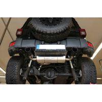 FOX  Duplex Sportauspuff  Jeep Wrangler 3 JK ab Bj. 2007  2.8l CRD 130/147kW - 1x100 Typ 25 rechts/links Schwarz glänzend