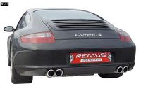 REMUS Endrohrpaar Porsche 911 Carrera S Typ 997 inkl. Cabrio ab 06 3.8l - 2x90mm rechts links