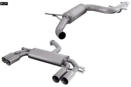 REMUS Duplex Komplettanlage ab Kat Titanium2 VW Scirocco 3 ab 08 2.0l - rechts links je 2x84mm