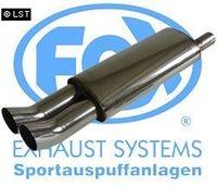 FOX Sportauspuff Opel Astra F Caravan 1-Punkt-Aufhängung - 2x76 Typ 18 Bild 2