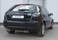 FOX Duplex Sportauspuff Audi A3 Typ 8P Sportback 2x76 Typ 13 rechts/links Bild 2
