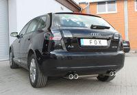 FOX Duplex Sportauspuff Audi A3 Typ 8P Sportback 2x76 Typ 13 rechts/links Bild 3