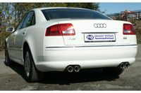 FOX Duplex Rennsportanlage ab Kat Audi A8 4E 3.7l 4.2l 2x80mm Typ 17 rechts links Bild 4