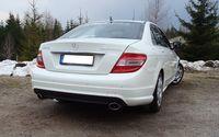 FOX Duplex Sportauspuff Mercedes Benz C-Klasse  C180/C200 Typ W204 115x85 Typ 38 rechts/links Bild 3