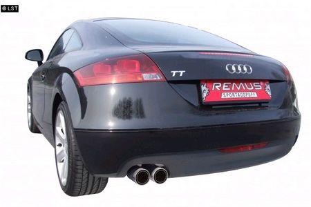 REMUS Rennsportanlage ab Krümmer Audi TT 8J ab 07 2.0TFSI - 2x84mm