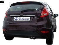 FOX Sportauspuff Ford Fiesta MK7 Diesel ab 08 inkl. Sport S 2x86x54mm Typ 32