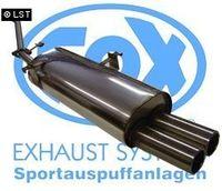 FOX Sportauspuff BMW E30 316i  318i bis 9 87 2 Loch-Flansch -2x76 Typ 13 Bild 5