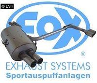 FOX Duplex Sportauspuff BMW E46 320  323  325  328  330 - 2x70 Typ 10 rechts links
