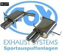 FOX Duplex Sportauspuff BMW E39 M5 - 2x80 Typ 13 recht links Bild 2