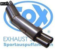 FOX Sportauspuff BMW E34 525i 24V - 2x80 Typ 13 Bild 3