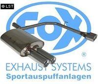 FOX Duplex Sportauspuff BMW E60 520d 525d 530d - 2x76 Typ 13 rechts links Bild 3