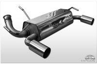 FOX Duplex Sportauspuff Peugeot 206 RC ab 99 - 1x90mm Typ 10 rechts links