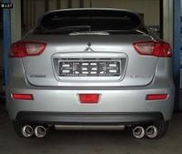 FOX Duplex Sportauspuff Mitsubishi Lancer CYO-Stufenheck Sportback 2x90 Typ 17 rechts links