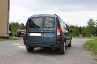 FOX Duplex Sportauspuff Dacia Logan Kombi ab 04 - 1x130x50mm Typ 52 rechts links Bild 4