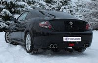 FOX Duplex Sportauspuff Hyundai Coupe Typ GK Facelift ab 06 - 2x90mm Typ 12 rechts links Bild 4