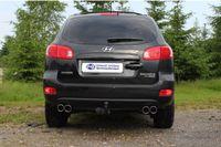 FOX Duplex Sportauspuff Hyundai Santa Fe CM ab 06 4x4 - 2x90mm Typ 16 rechts links Bild 3