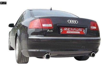 REMUS Duplex Sportauspuff Audi A8 4E Quattro Lim. ab 03 3.7l 4.2l 3.0TDI 4.0TDI 4.2TDI - 1x90mm rechts links