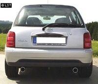 FOX Duplex Sportauspuff Nissan Micra Typ K11 93-00 - 1x80mm Typ 13 rechts links Bild 2