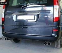 FOX Duplex Sportauspuff Mercedes Vito u. Viano W639 - 2x70mm Typ 11 rechts links