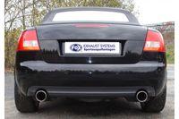 FOX Duplex Sportauspuff Audi A4 Typ B7 Lim. Cabrio Avant - 1x90mm Typ 17 rechts links Bild 6