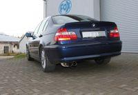 FOX Komplettanlage ab Kat BMW 320 323 325 328 330 E46 Lim. Touring Coupe Cabrio - 2x76mm Typ 10 Bild 8