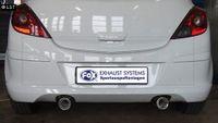 FOX Duplex Sportauspuff Opel Corsa D 1.0l bis 1.4l 1.3D (mit OPC Line Stoßstange) - 1x90mm Typ 13 rechts links