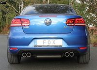 FOX Duplex Sportauspuff VW Eos 1F Facelift - 2x80mm Typ 16 rechts links