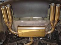 FOX Duplex Sportauspuff VW Eos 1F Facelift - 2x80mm Typ 16 rechts links Bild 3