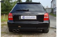 FOX Rennsportanlage ab Kat Audi RS4 B5 Bj. 00-01 2.7l 2x115x85mm Typ 32