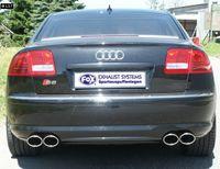 FOX Duplex Sportauspuff Audi S8 4E 5.2l 2x115x85mm Typ 32 rechts links Bild 5