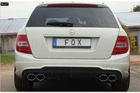FOX Duplex Sportauspuff Mercedes C-Klasse W204 S204 ab 07 6-Zyl. 2.5l bis 3.5l u. 3.0D (Facelift mit AMG-Paket) 2x115x85mm Typ 32 rechts links