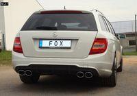FOX Duplex Sportauspuff Mercedes C-Klasse W204 S204 ab 07 6-Zyl. 2.5l bis 3.5l u. 3.0D (Facelift mit AMG-Paket) 2x115x85mm Typ 32 rechts links Bild 2