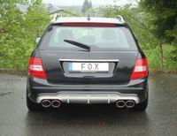 FOX Duplex Sportauspuff Mercedes C-Klasse W204 S204 ab 07 6-Zyl. 2.5l bis 3.5l u. 3.0D (Facelift mit AMG-Paket) 2x115x85mm Typ 32 rechts links Bild 5