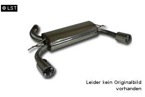 REMUS 65 Komplettanlage ab Kat Opel Astra H Schrägheck ab 04 u. GTC Coupe ab 05 1.4l 1.6l 1.8l - 2x84mm (Rohrquerschn. 65mm)