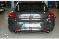 FOX Duplex Sportauspuff VW Scirocco 3 ab 08 1.4l (R-Heck) - 1x115x85mm Typ 32 rechts/links